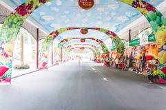 胡志明市,越南, 12,25,2017 A小市场在公园 图库摄影