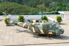 胡志明市,越南- 2015年1月26日:响铃在Indep的UH-1 Huey 图库摄影