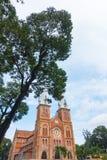 胡志明市-胡志明市9月2017年,越南巴黎圣母院大教堂  免版税库存照片