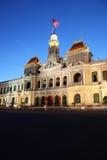 胡志明市-越南-人民的委员会大厦 免版税库存图片