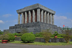 胡志明陵墓在河内越南 免版税库存图片