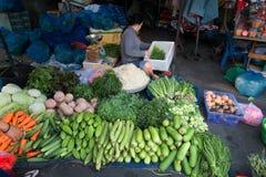 胡志明,越南- 2014年11月21日:一个地方菜标记 库存图片