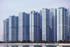 胡志明/越南, 2017年10月29日-在中央公园一个新的项目的高大厦在西贡,胡志明市,越南 图库摄影