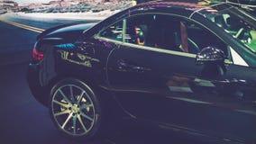 胡志明/越南, 2017年8月04日-在显示的汽车在越南汽车展示会2017年 免版税库存图片