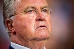 胡斯・希丁克荷兰的以前的领导教练 免版税库存图片