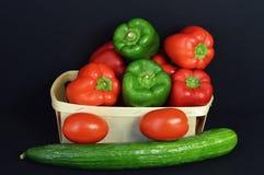 胡椒分类用蕃茄 免版税图库摄影