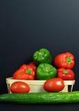 胡椒分类用蕃茄 免版税库存照片