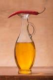 胡椒和橄榄油 库存图片