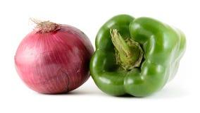 胡椒和葱 免版税库存照片