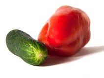 胡椒和黄瓜 库存照片