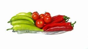 胡椒和tomatoed 免版税库存照片