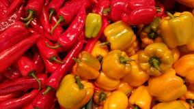 胡椒在市场上 库存照片