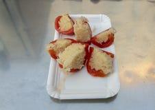 胡椒用德国泡菜,被引导的食物游览,维也纳,奥地利 免版税库存图片