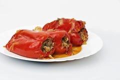 胡椒用肉末和菜 免版税图库摄影