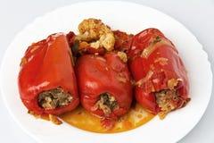 胡椒用肉末和菜 免版税库存图片