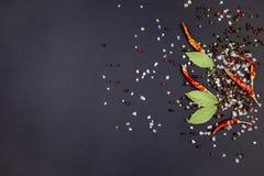 胡椒荚和香料 库存图片