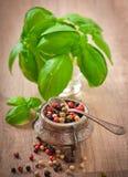 胡椒豌豆混合物  免版税库存照片