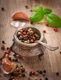 胡椒豌豆混合物  免版税库存图片