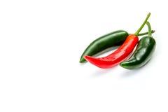胡椒辣椒,隔绝在白色 免版税库存图片