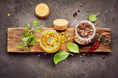 胡椒香料混合 库存图片