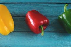 胡椒,青椒,红辣椒,辣椒 免版税库存图片