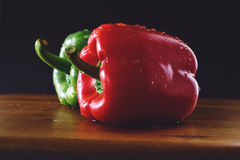 胡椒,青椒,红辣椒,辣椒 免版税图库摄影