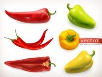 胡椒 菜传染媒介象集合 向量例证