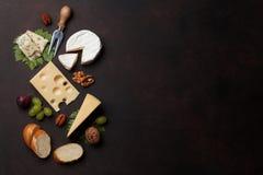 胡说干酪的葡萄 免版税库存图片