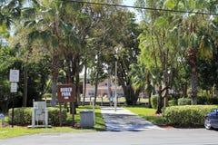 胡贝尔公园和标志 免版税库存照片