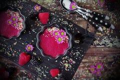 胡麻布丁莓 库存图片