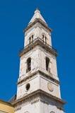 胭脂红教会。切里尼奥拉。普利亚。意大利。 库存图片