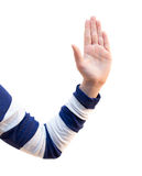 胳膊、手、手指和疣 免版税图库摄影