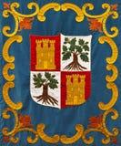 胳膊中世纪外套的刺绣 库存图片