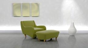胳膊椅子当代 免版税图库摄影
