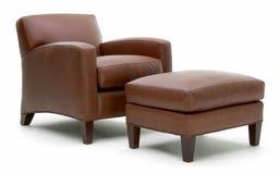 胳膊椅子皮革 免版税库存图片