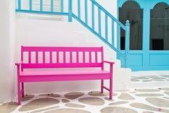 胳膊椅子粉红色 免版税图库摄影