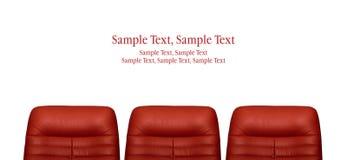 胳膊椅子红色 免版税图库摄影