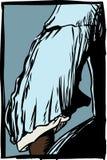 胳膊背面图在18世纪礼服的 向量例证