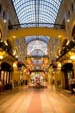 胶内部-购物中心在红场,莫斯科,俄罗斯 免版税图库摄影
