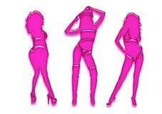 胶凝体女孩粉红色 免版税图库摄影