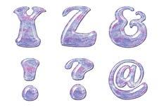胶凝体字母表 库存图片