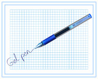 胶凝体笔 文教用品 库存例证