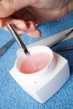 胶凝体粉红色 库存图片