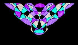 胶凝体被仿造的三角标志图画  免版税库存照片