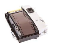 胶卷里面老减速火箭的照相机III 免版税图库摄影