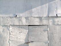胶合板被镶板的棚子房屋板壁 库存图片