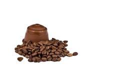 胶囊实际咖啡的设备 库存图片