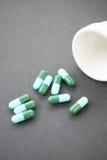 胶囊绿色医疗 图库摄影