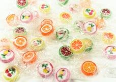 胶粘的熊糖果五颜六色的背景 库存照片