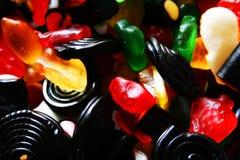 胶粘的糖果 库存图片